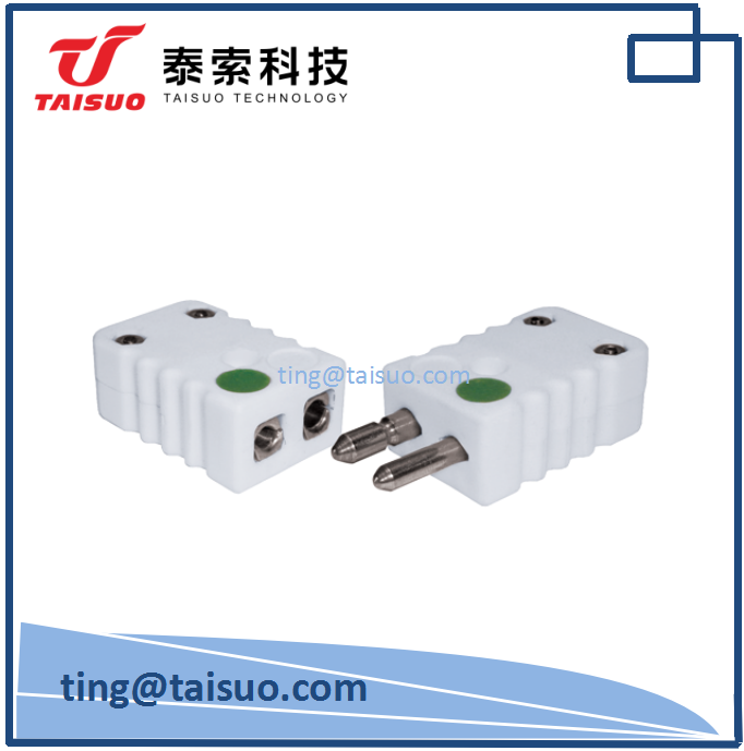 k type ceramic connector thermocouple connector plug
