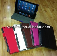 "Hand Strap Wallet Leather Case Cover For Apple Ipad MINI 7""tablet case"