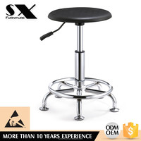 high quality pu seat height adjustable lab stool chair with foot rest YZ010