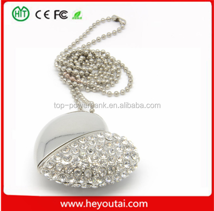 With diamond best wholesale price usb flash drive