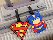 embroidered cartoon Transformers personalized travel name bag tags plactic rubber silicone 3d soft pvc airplane luggage tags