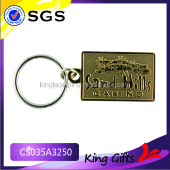 Casino promotional metal key chain