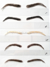 high quality false human hair eyebrow fake eyebrow lace eyebrow for sale