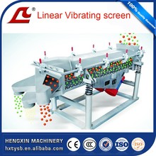 Linear type grain sieving machine of single or double layers