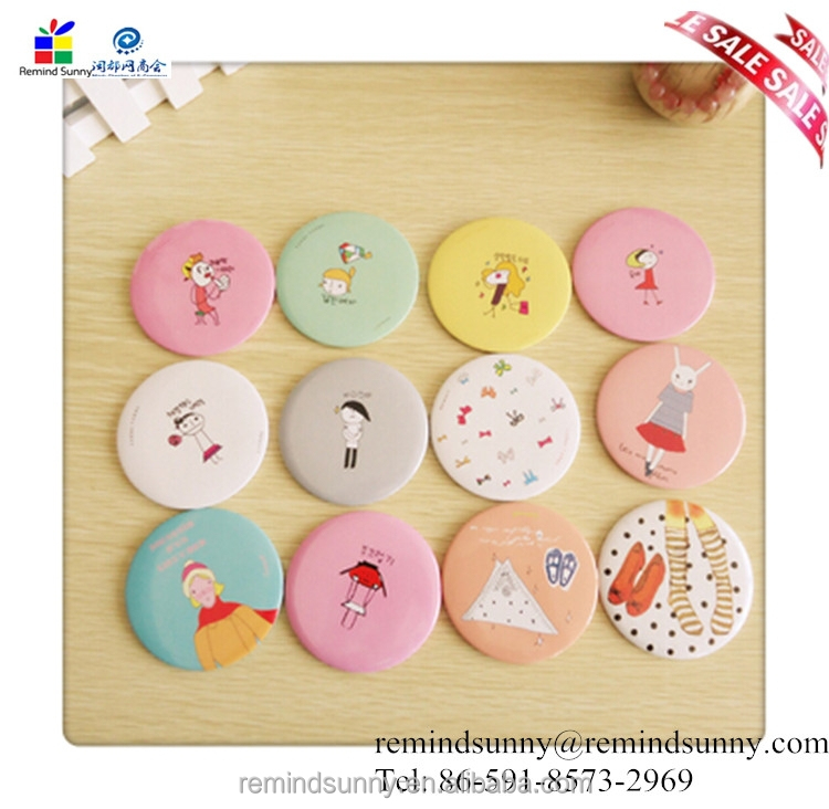 2015 Hot Selling new Design Cheap Small Plastic Cosmetic Mirror for promotion