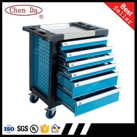 high quality drawer workshop metal tool box trolley tool chest with hand tool set