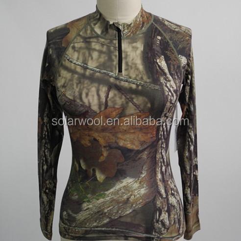Thermal Merino wool camouflage underwear