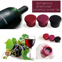 Reusable Non-toxic BPA Free Silicone Decorative Wine Bottle Stoppers