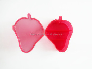 2015 Cute and fancy strawberry shaped round pill box/monthly pill box and automatic pill dispenser