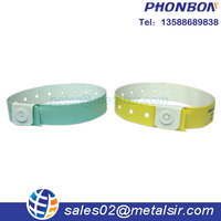 High quality id bracelets vinyl wristbands for festival and patients events