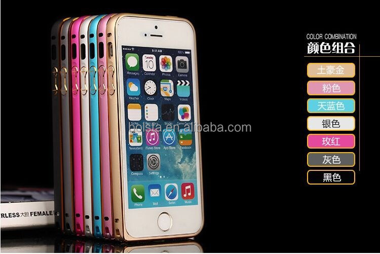 Ultra-thin Metal Bumper Cover for iphone aluminum case
