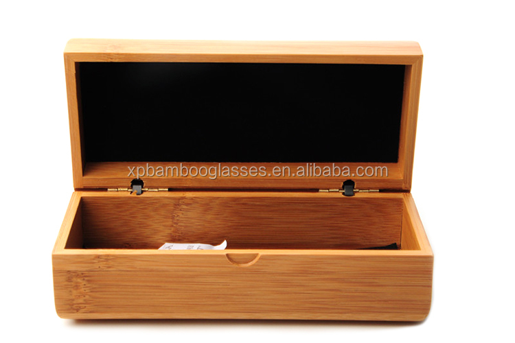 square bamboo wood glasses sunglasses case