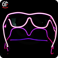 Wholesale Light Up EL Full Frame Sunglasses