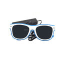 white Frame sound activated Dark lens flashing Glow EL glasses