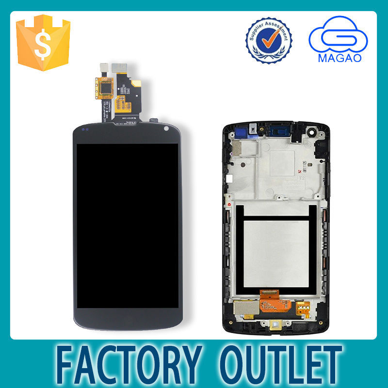 Magao Manufacturer Direct Sells touch screen digitizer replacement for nexus 4, whosale original for lg nexus 4 e960 lcd