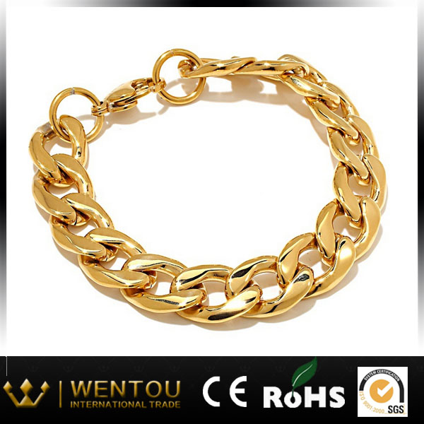 High quality gold plated cheap gold nugget bracelet