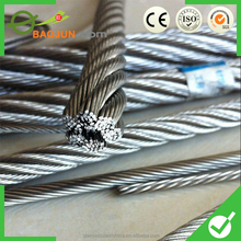 flexible stainless steel used wire rope for derrick crane on sale