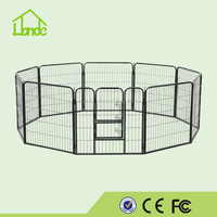 Hot Sales Black Metal Large Outdoor Folding Pet Playpen