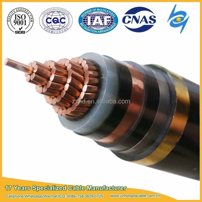 18 / 30 kV Single Core XLPE Insulated Power Cable with Cu conductors