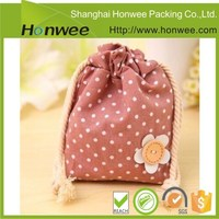 high quality wholesale cotton drawstring bag