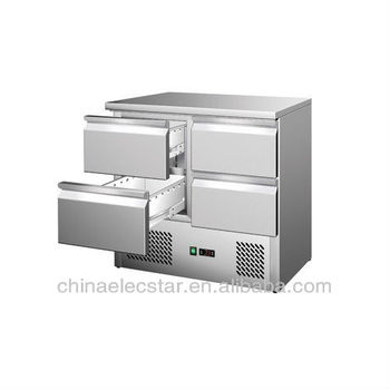 refrigerated Saladettes refrigerator with four drawers