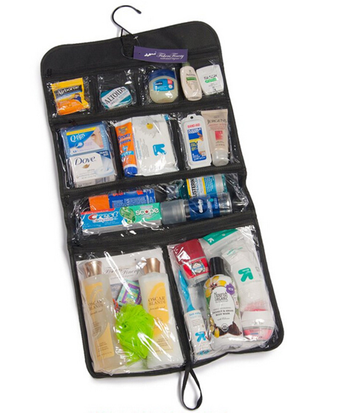NEW Hanging Toiletry Cosmetics Travel Bag Organizer Black
