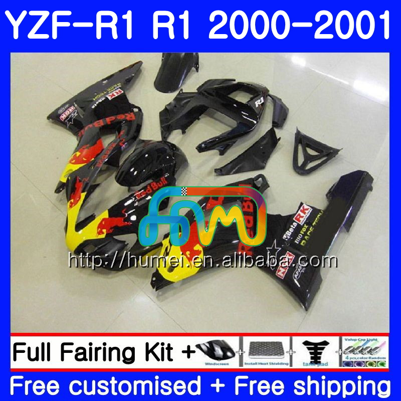 Body For YAMAHA YZF R 1 YZF Yellow red 1000 YZF-<strong>R1</strong> 00-01 Bodywork 98HM26 YZF1000 YZF-1000 YZF <strong>R1</strong> 00 01 YZFR1 2000 <strong>2001</strong> <strong>Fairing</strong>