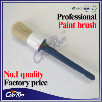 ColorRun natural white bristle plastic round paint brush wax brush in stock