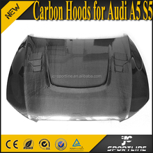 A5 S5 Carbon Fiber Front Bumper Engine Hoods for Audi A5 S5