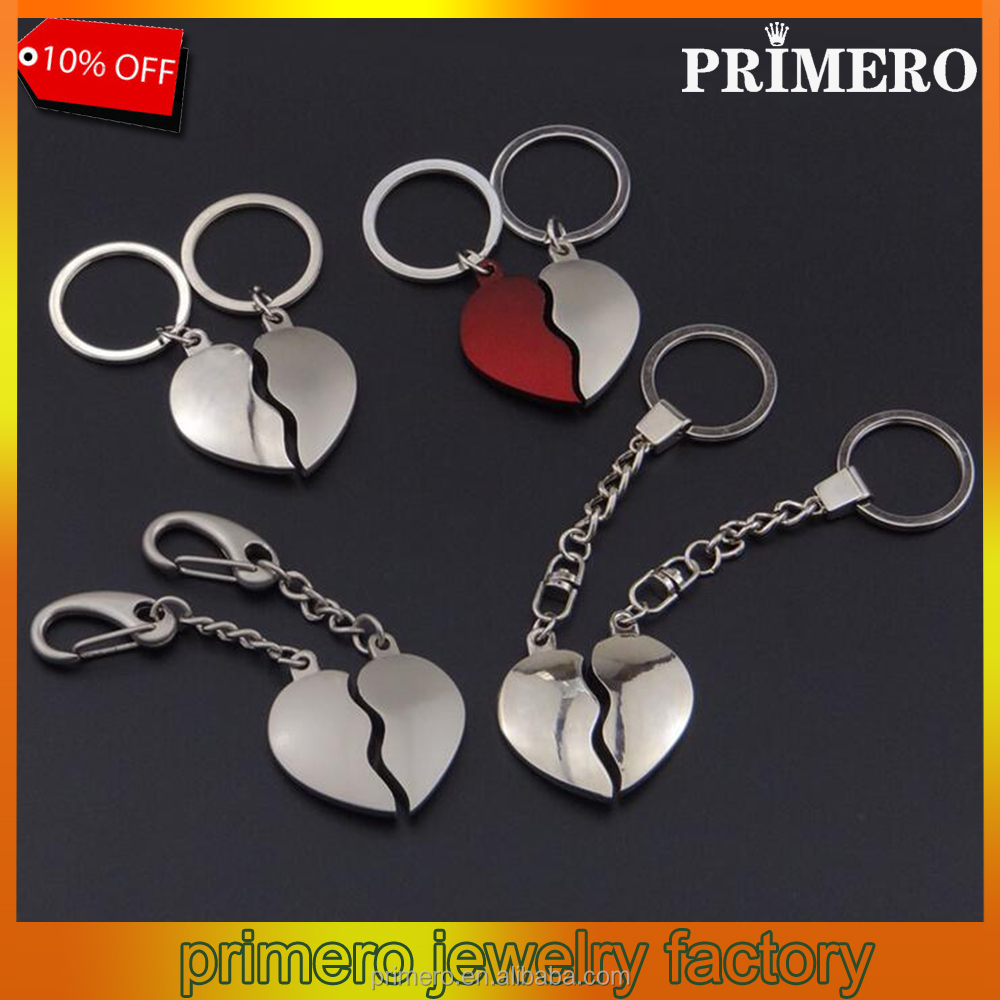 Magnetic Boy And Girl Kissing Couple Heart Key Chain Cute Pendant Gift Keyring
