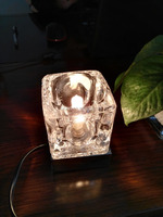 Modern design ice cube galss table lamp