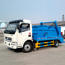 Dongfeng 4x2 5m3 Skip Loader Garbage Truck, 5 Ton Hydraulic Swinging Garbage Truck
