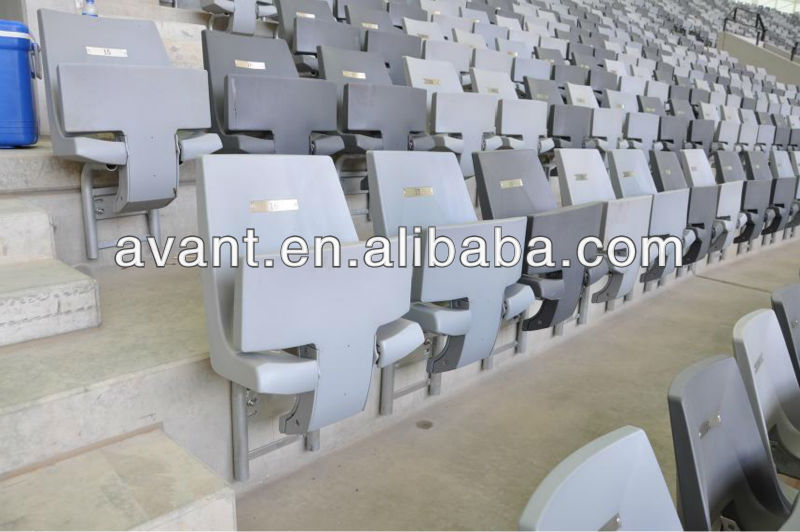 UV-protection plastic seat for stadium bucket chair,stadium bucket seating,stadium bleacher seating for public games,education