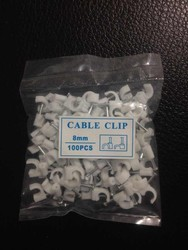 Round plastic round nail cable holder clip
