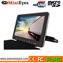 10 Inch TFT LCD Armrest Monitor With Built In DVD Player also has built-in speakers