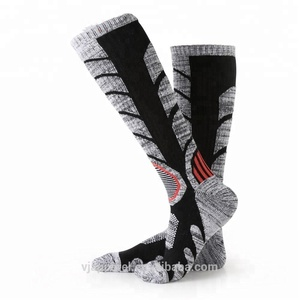 cushioned padding heated cotton moisture wicking socks custom ski socks