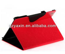 cow leather case for ipad 2,red leather case for apple ipad 2 3 4