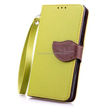 Leaf Buckle Wallet Card Holder Stand Flip PU Leather Phone Case for Nokia