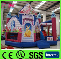customized nice princess inflatable bouncer slide / inflatable bouncer with slide for party