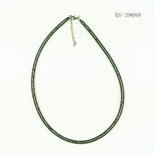 New coming fish wire necklace hollow-out weave necklace with rhinestone