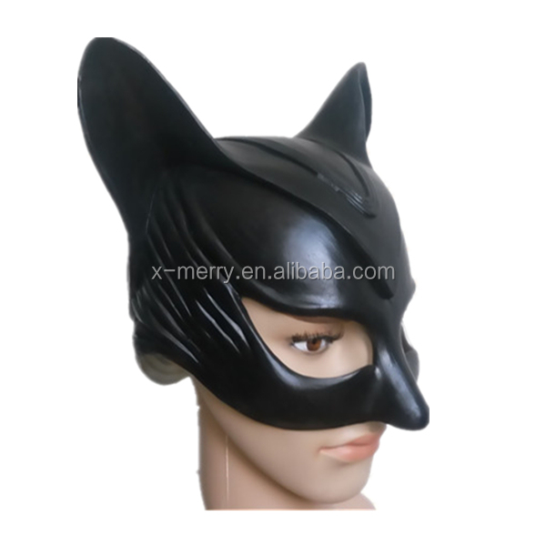 X-MERRY 2016 Rubber Latex Mask Party Carnival Mask Woman Fancy Dress Catwoman Mask