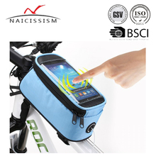 New Waterproof Bicycle Cycling Frame Pannier Front Tube Bag with Headphone Jack