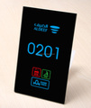 Black tempered glass colorful LED Back light Room number DND MUR BELL multinational door plates