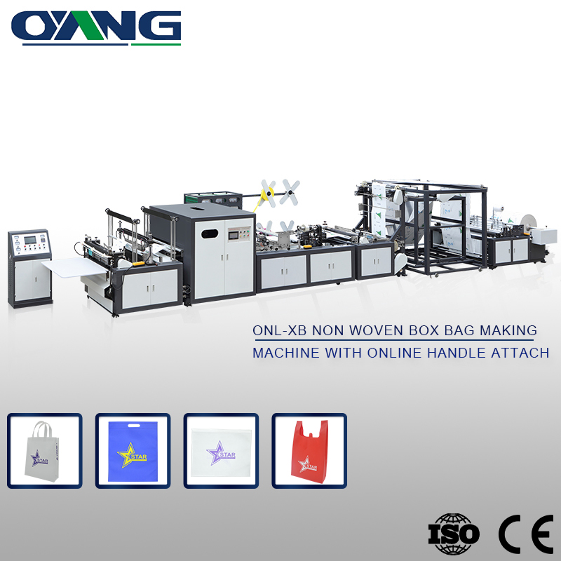 Precision High quality full automatic and high speed handle bag making machine with handle sealing together