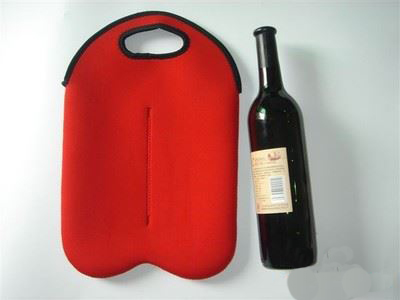 Wholesale costom insulated neoprene 2-pack wine tote cooler bag