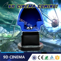 Single Cabin Space Capsule Design 9D Virtual Reality Cinema With Funny Games