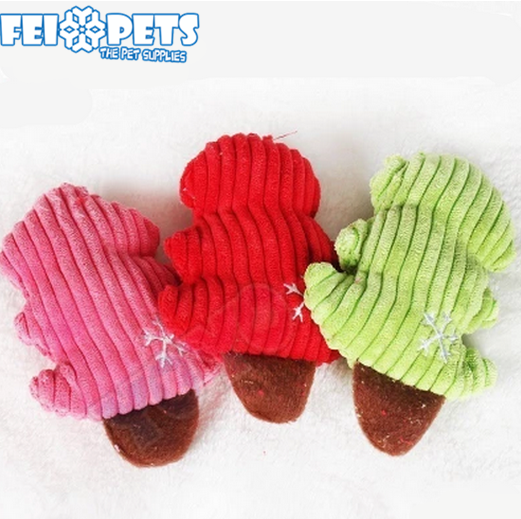2017 new toys squeaky christmas tree dog toy for teddy