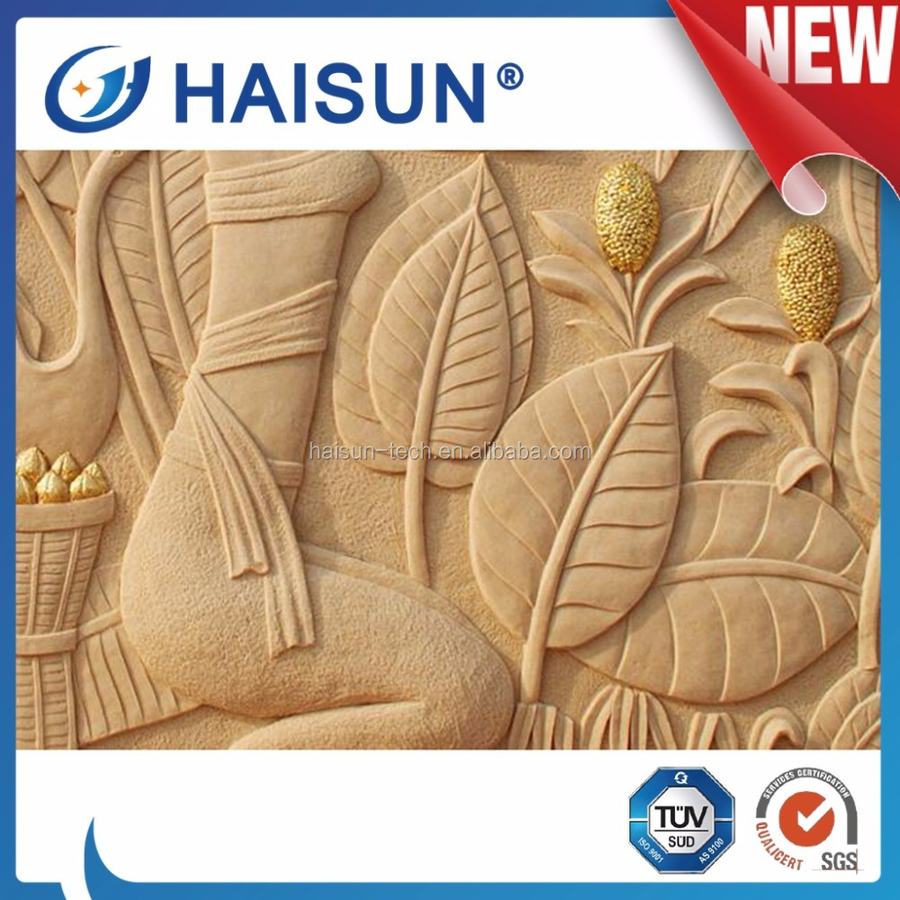 Natural stone flower picture relief sculpture carving for outdoor