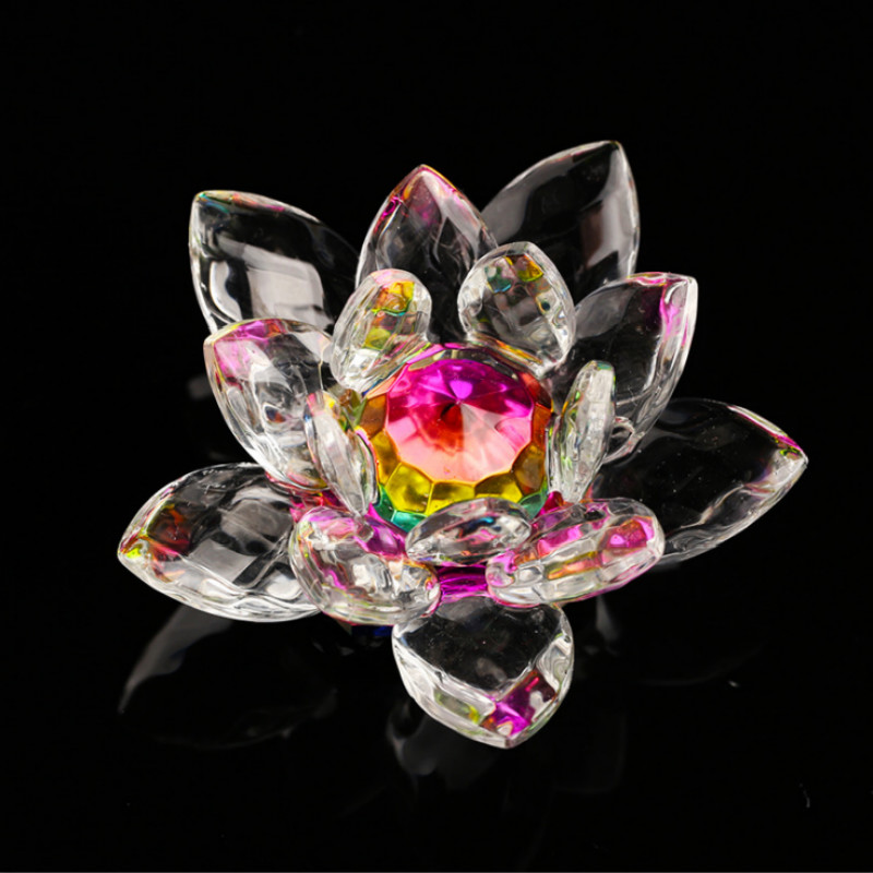 New gifts Artificial glass crystal lotus flower