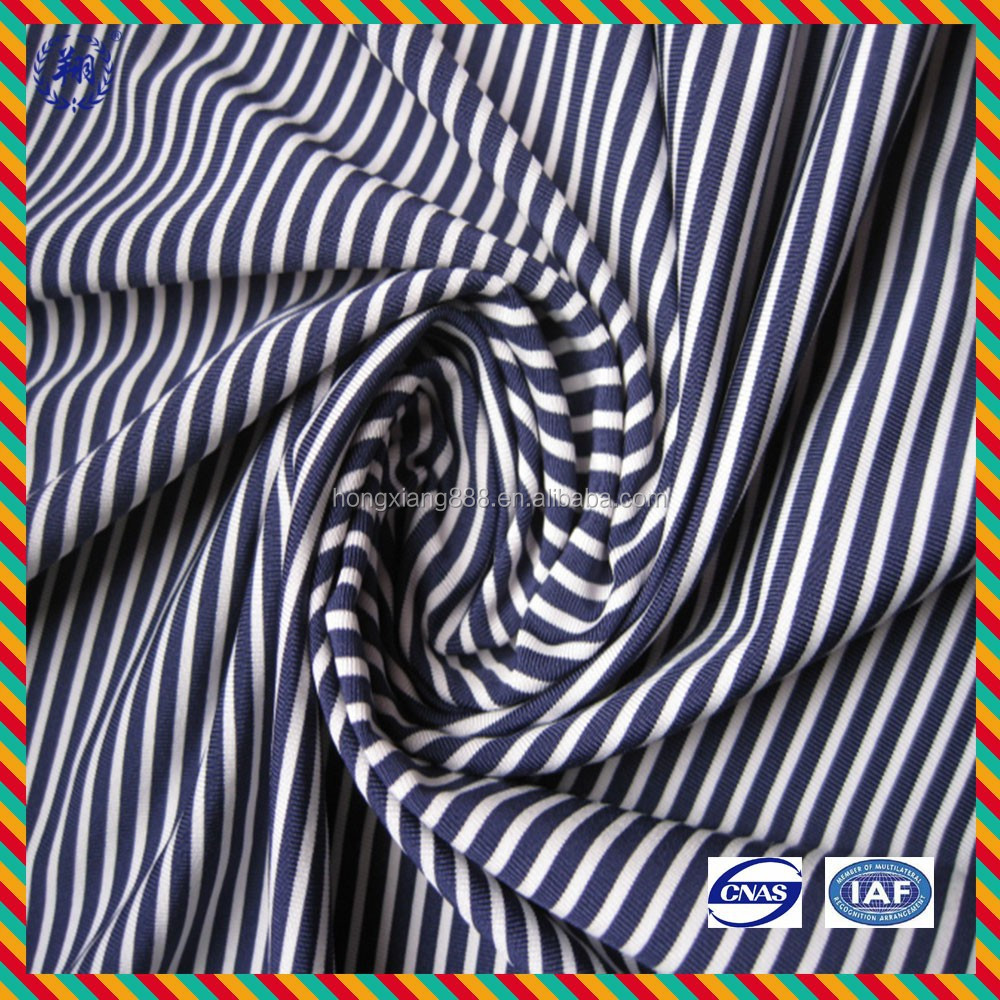 Polyester Nylon Spandex Swimsuit Stripe Fabric